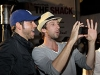 Zachary Levi and Joel David Moore at the EVO 3D launch
