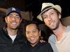 Zachary Levi, Rembrandt Flores, and Joel David Moore at the EVO 3D launch
