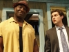 THE FINDER:  Leo (Michael Clarke Duncan, L) and Dr. Lance Sweets (guest star John Francis Daley of BONES, R) listen as Walter explains a theory on their case in the