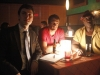 THE FINDER:  Walter (Geoff Stults, C), Leo (Michael Clarke Duncan, R) and Dr. Lance Sweets (guest star John Francis Daley of BONES, L) follow a lead to a jazz bar in the