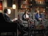 "BONES:  Brennan (Emily Deschanel, R) appears in a television interview with a rival author (guest star Nora Dunn, C) who she has little respect for in the ""The Dude in the Dam"" episode of BONES airing Monday, Nov. 11 (8:00-900 PM ET/PT) on FOX.  Also pictured: guest star Loren Lester, L.  ©2013 Fox Broadcasting Company.  Cr:  Ray Mickshaw/FOX"