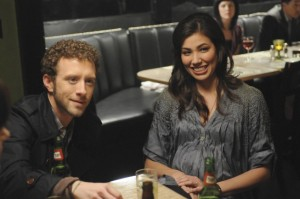 Hodgins and Angela enjoy an evening with the Jeffersonian Team