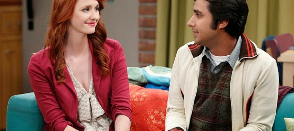 Emily and Raj on The Big Bang Theory